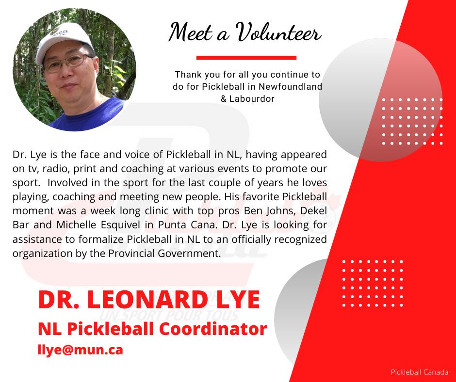 Volunteer Highlight - Leonard Lye